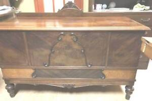 ANTIQUE ORNATE CEDAR CHEST