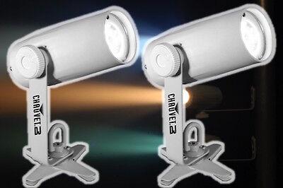 2 x Chauvet EZPin IRC LED Battery Powered Pinspot Spot Light for Mirrorball DJ