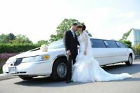 Limousine for Wedding, Airport, winery 25% off 1-877-376-7997