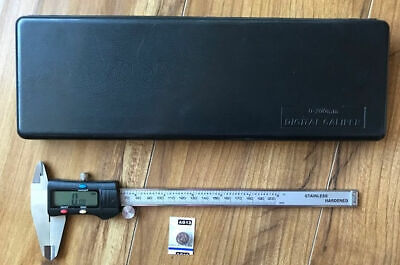 8 200 Mm Digital Electronic Caliper Mm Inch Fractions 0.01mm0.0005inch W Case