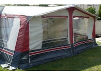 14ft Red/Grey Balmoral Awning by NR Awnings