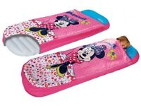 Disney Minnie Mouse all in one air bed, Ready bed, sleeping bag, junior bed