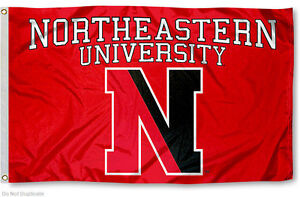 Northeastern University Huskies Flag NU Large 3x5
