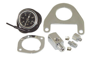 Oil Pressure Gauge Kit With Mount Harley Twin Cam Oil Pressure Gauge & Mount