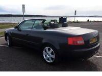 Audi A4 2.4 V6 sport convertible, MOT, low miles
