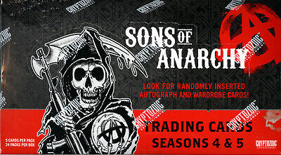 Sons Of Anarchy Seasons 4   5 Trading Cards Sealed Hobby Box Cryptozoic