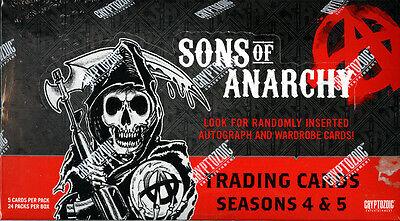 Sons Of Anarchy Seasons 4   5 Trading Cards Sealed Hobby Box Cryptozoic