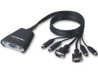 Belkin F1DK102P 2-Port PS2 KVM Switch