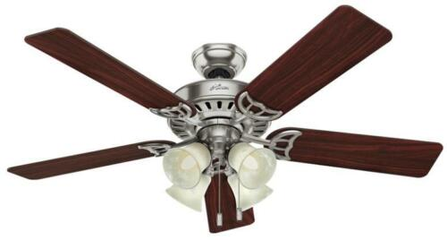 "Hunter Studio Series 52"" Ceiling Fan Brushed Nickel 53064"