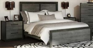 ON SALE - Modern Queen-size Bed with FREE matching Night table