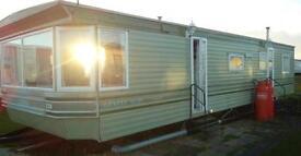Static caravan sited at Sandy bay