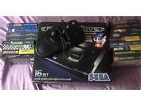 Sega megadrive 17 games and arcade stick