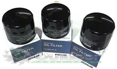 Superb 3 Pack Genuine Oem Kohler 1205001 S  1205001S 12 050 01S Oil Filter
