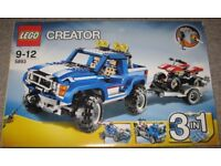 Lego Creator 4x4 Truck & Quad / Transporter Truck / Racing Car Huge 3 in 1 Set