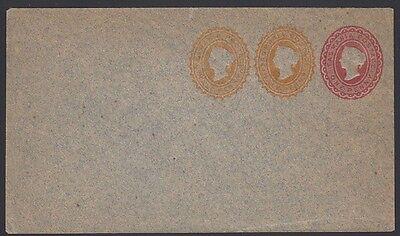 TASMANIA, 1892. Envelope  PTPO KB21, 3 Stamp, Mint