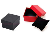 18 black 2 red watch/bracelet boxes/bags