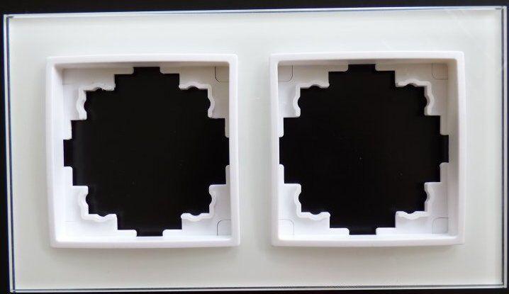 steckdose glas rahmen abelka nuovo weiss 2 fach 16 ampere elektro schalter 7755 eur 16 10. Black Bedroom Furniture Sets. Home Design Ideas