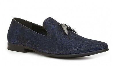 Giorgio Brutini CONQUEST Mens Black/Blue 179171-3 Slip On Dress -