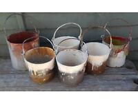 x6 Vintage Paint Pots / Kettle - Quirky Display
