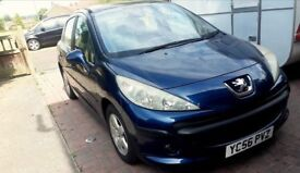 2006 Peugeot 207 sport,1.4 petrol,low mileage 72120! 12 months MOT,cheap to maintain!Panoramic roof!
