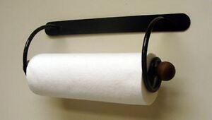 paper towel holder 15 1 2 wide wall mount or under the cabinet black metal. Black Bedroom Furniture Sets. Home Design Ideas