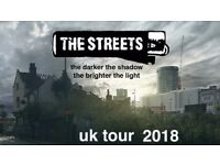 1 x The Streets ticket at 02 Brixton Academy - opening show 25th April 2018