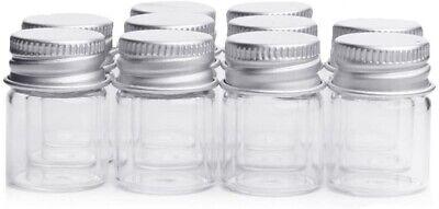 25 Pcs - 5ml Empty Sample Glass Bottles Jars Vials Case Container Screw Caps
