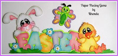 EASTER TITLE paper piecing set for Premade Scrapbook Pages by Rhonda