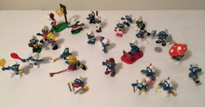 Vintage Smurfs Figurines LOT - Sports theme *Like New*