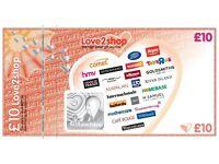 Love 2 Shop vouchers