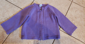 girls 2t purple sweater