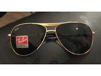 Brandnew scratch proof glass Rayban Sunglasses gold men's ladies unisex cheap
