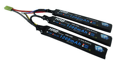 HRB 3S 11.1V 1200mAh 25C 50C Lipo Stick Battery for Airsoft