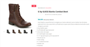 G by GUESS Combat Military Boot size 9 - NEW with box!