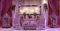 Wedding Decor Services - Backdrops, Head Tables, Centrepieces