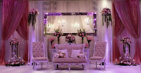 Wedding Stage Decor Services - Backdrops, Arches, Flower Walls