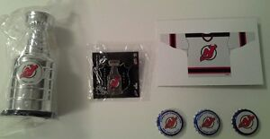 New Jersey Devils NHL Stanley Cup replica and fan memorabilia