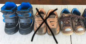 2 pairs 5/12-61/2 toddler shoes for fall/winter