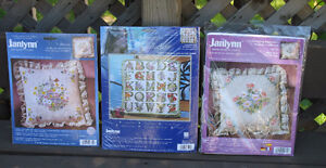 Pillow Kits  or Picture( needlepoint, embroidery & cross stitch)