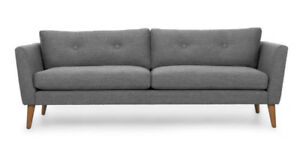 Article sofa Emil grey , display model ( available in pink )