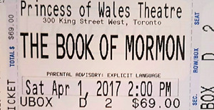 Book of Mormon tickets for sale