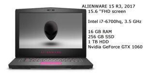 ALIENWARE R3 2017, 15'' i7 3.5ghz 16GB,256GB ,1TB, GTX 1060, BOX