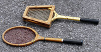 Two vintage collectable Dunlop tennis racquets