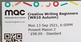 Creative writing course at the mac centre