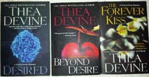 3 books  THEA DEVINE, DESIRED, BEYOND DESIRE AND THE FOREVER KIS