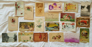 Collection of Vintage POSTCARDS - Postmark 1908 to 1925