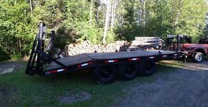 24 foot trailer rated for 15 tons.