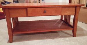 Cherry Wood TV table