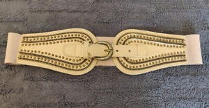 Women's Tan Waist Belt, Size L