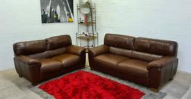 Italian Leather 3&2 Seater Sofa Set